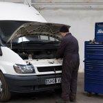 R A Commercials Andrew Taylor fixing a van
